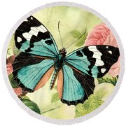 Butterfly Visions-b Round Beach Towel