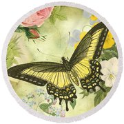 Butterfly Visions-d Round Beach Towel