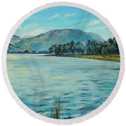 Buttermere Haystacks And Beyond Round Beach Towel