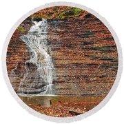 Buttermilk Waterfall Round Beach Towel by Marcia Colelli