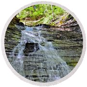 Butternut Falls Round Beach Towel by Frozen in Time Fine Art Photography