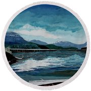 Buttle Lake Round Beach Towel