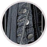 Button Ups Round Beach Towel