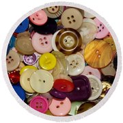 Buttons 667 Round Beach Towel