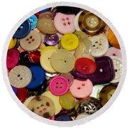 Buttons 670 Round Beach Towel