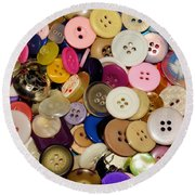 Buttons 671 Round Beach Towel