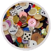Buttons 674 Round Beach Towel