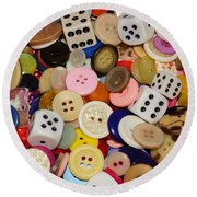 Buttons 676 Round Beach Towel