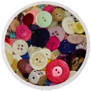 Buttons 680 Round Beach Towel