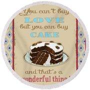 Buy Cake Typography Round Beach Towel
