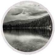 Bw Bear Lake Round Beach Towel