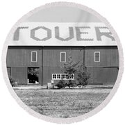 Bw Stovers Farm Market Berrien Springs Michigan Usa Round Beach Towel