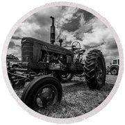 Bwcday4 Tractors Round Beach Towel