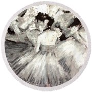 By Degas Round Beach Towel