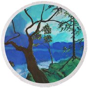 By Still Waters Round Beach Towel