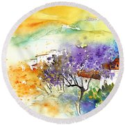 By Teruel Spain 01 Round Beach Towel