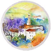 By Teruel Spain 02 Round Beach Towel