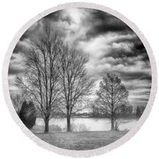By The Lake Round Beach Towel