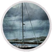 By The Light Round Beach Towel
