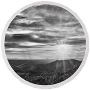 By The Light Of God Round Beach Towel