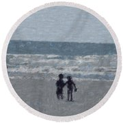 By The Ocean Round Beach Towel