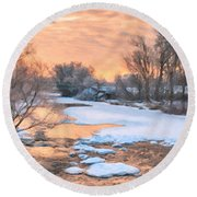 By The Old Mill Round Beach Towel