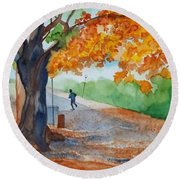 By The Rideau Canal Round Beach Towel