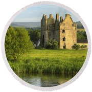 By The River Suir Round Beach Towel