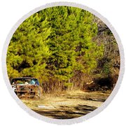 By The Roadside Round Beach Towel