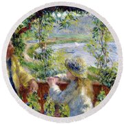 By The Water Round Beach Towel