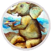 By Tom Kidd Round Beach Towel