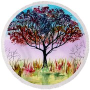 By Water's Edge Round Beach Towel