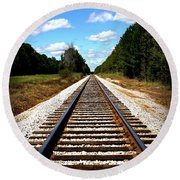 Never Ending Tracks Round Beach Towel