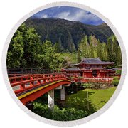 Byodo-in-temple Round Beach Towel