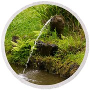 Byodo In Temple Round Beach Towel