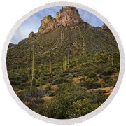 Byous Butte Round Beach Towel