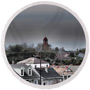 Bywater Rooftops Round Beach Towel