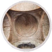 Byzantine Medieval Dome Ceiling Round Beach Towel