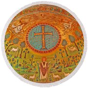 Byzantine Mosaic Round Beach Towel