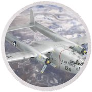 C-119 Flying Boxcar Round Beach Towel