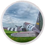 C-47-w7 7d06 Round Beach Towel