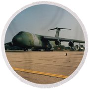 C-5 On Taxi Round Beach Towel