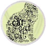 C Is For Cat Round Beach Towel