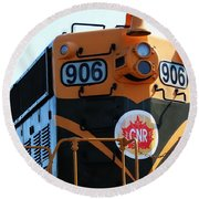 C N R Train 906 Rustic Round Beach Towel