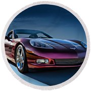 C6 Corvette Round Beach Towel