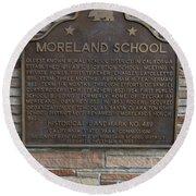 Ca-489 Moreland School Round Beach Towel