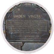 Ca-505 Almaden Vineyards Round Beach Towel