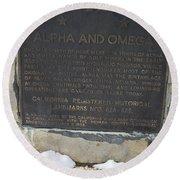 Ca-628-629 Alpha And Omega Round Beach Towel