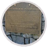 Ca-843 North Star Mine Powerhouse Round Beach Towel
