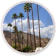 Cabanas Palm Springs Round Beach Towel